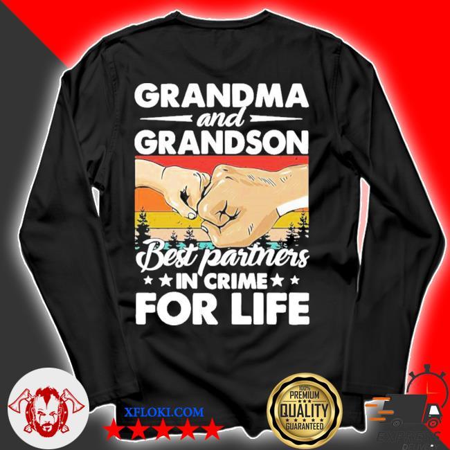 Grandma and grandson best partners in crime for life vintage new 2021 s longsleeve