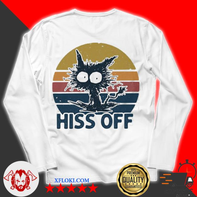 Hiss off cat vintage new 2021 s unisex longsleeve