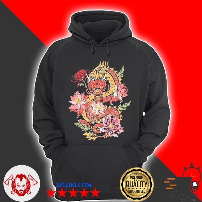 Japanische drache mit blumen vintage dragon aesthetic new 2021 s hoodie