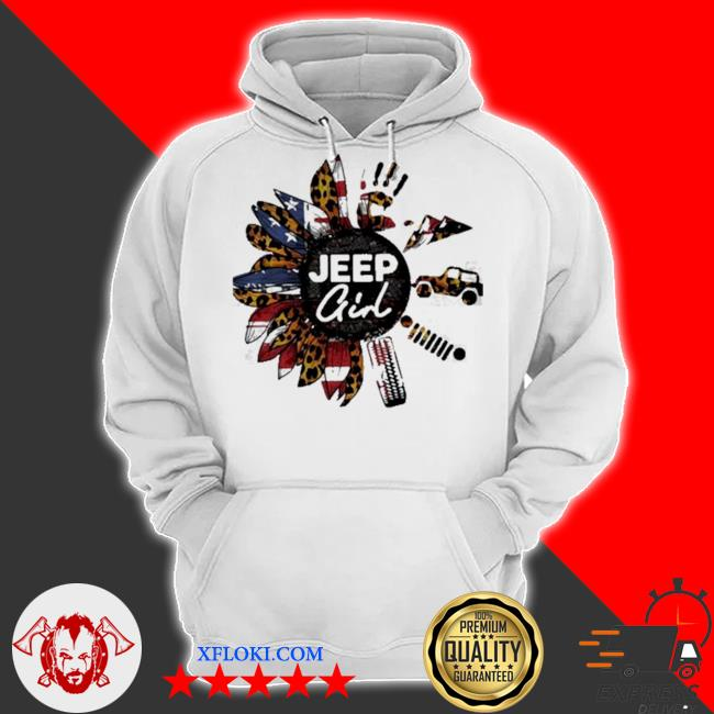 Leopard sunflower jeep girl s hoodie