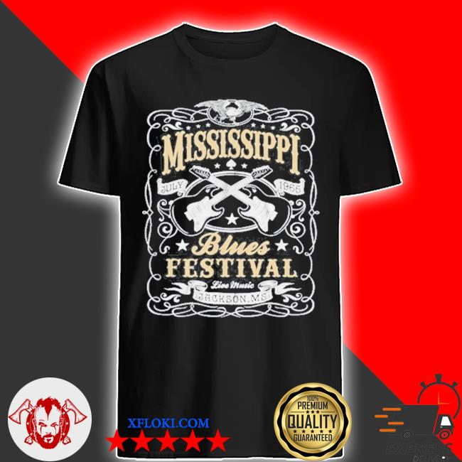 MississippI rock whiskey concert music festival guitar shirt