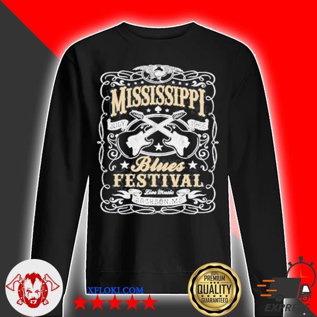 MississippI rock whiskey concert music festival guitar s sweater