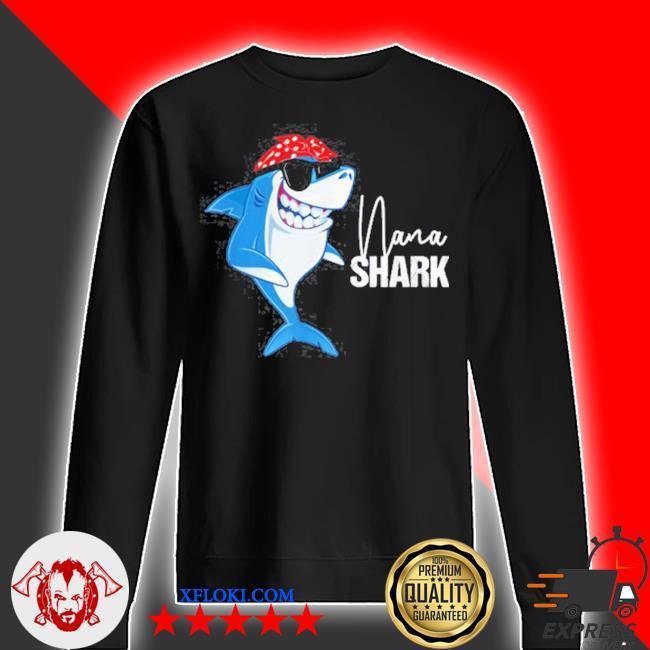Nana shark wearing sunglasses bandana grandma s sweater