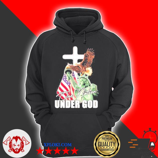 One nation under god eagle American flag the liberty s hoodie
