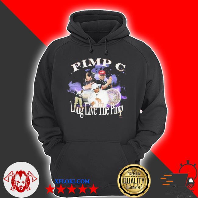 Pimp c long live the pimp vintage look s hoodie