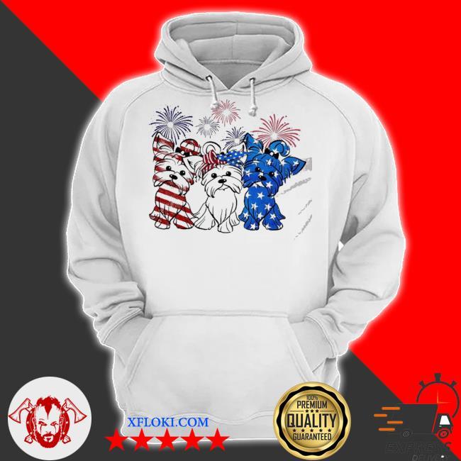 Pomeranian dog usa flag 4th of july s hoodie