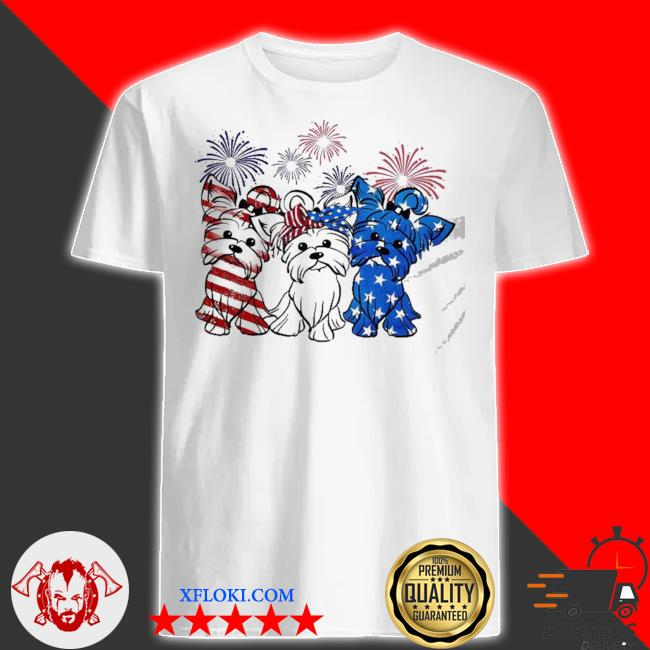 Pomeranian dog usa flag 4th of july shirt