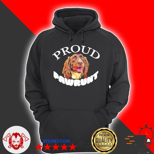 Proud pawrunt of a cute springer spaniel dog new 2021 s hoodie