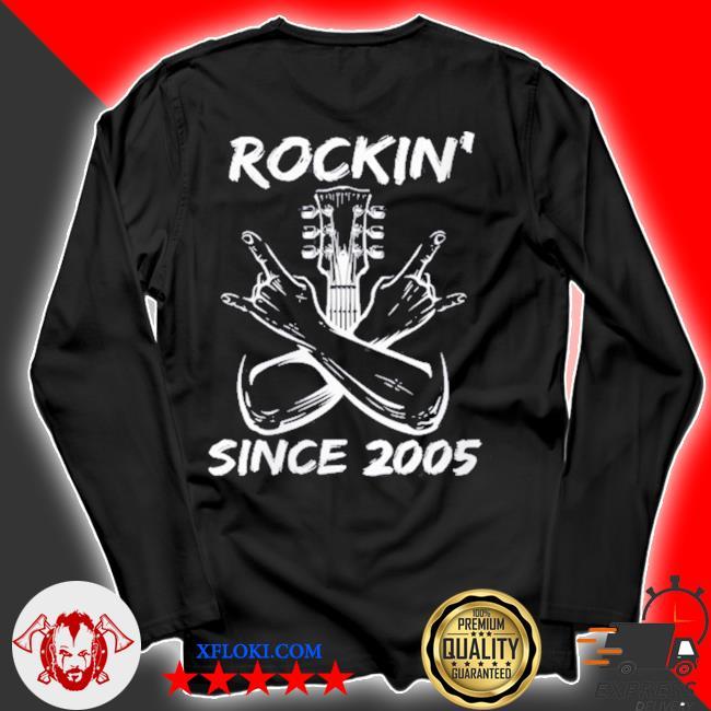 Rockin' since 2005 16th birthday guitar 16 years old s longsleeve
