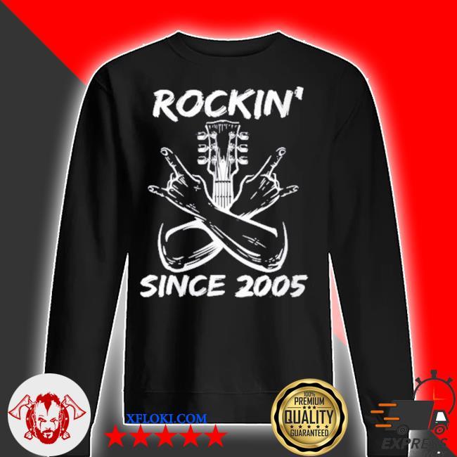 Rockin' since 2005 16th birthday guitar 16 years old s sweater