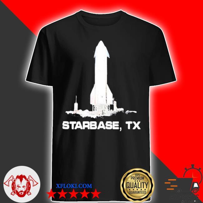 Simple starbase tx spaceship graphic shirt