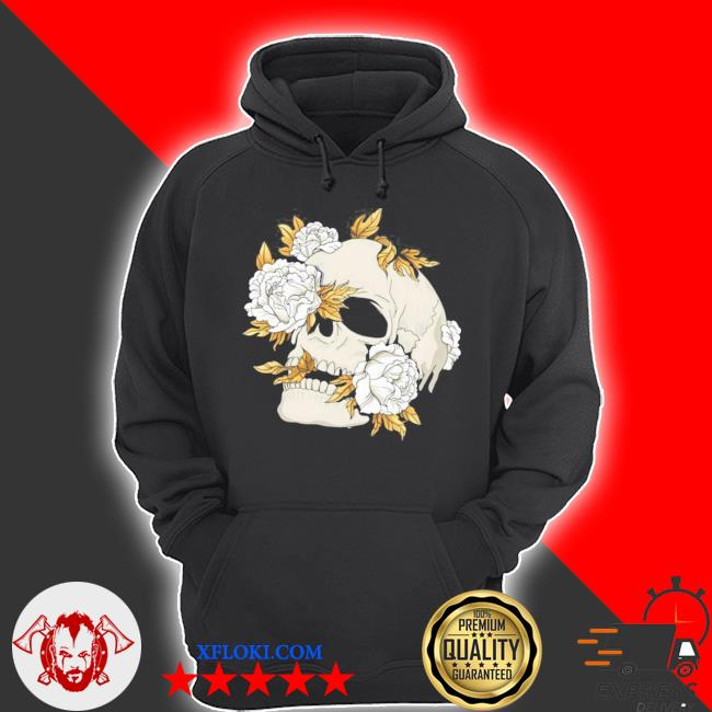 Skull flowers goth gothic occult wicca witchcore witchcraft new 2021 s hoodie