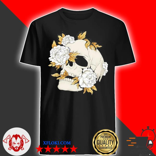 Skull flowers goth gothic occult wicca witchcore witchcraft new 2021 shirt