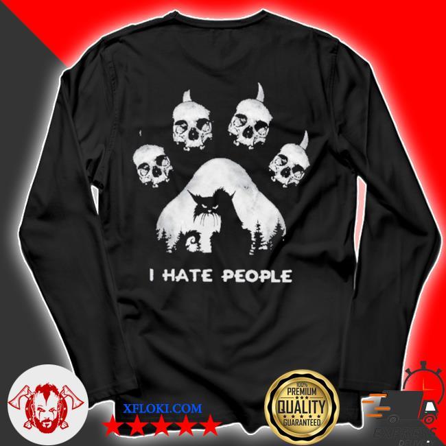 Skull I hate people s longsleeve