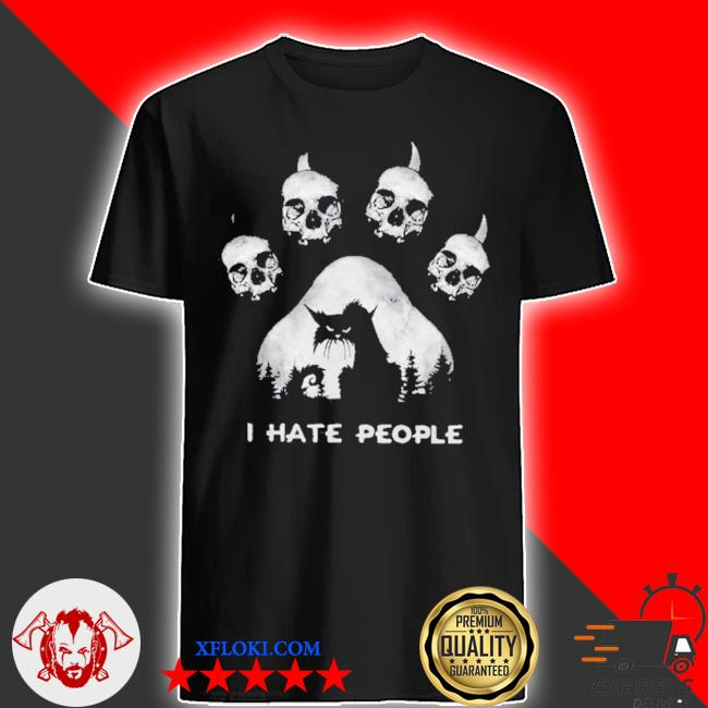 Skull I hate people shirt