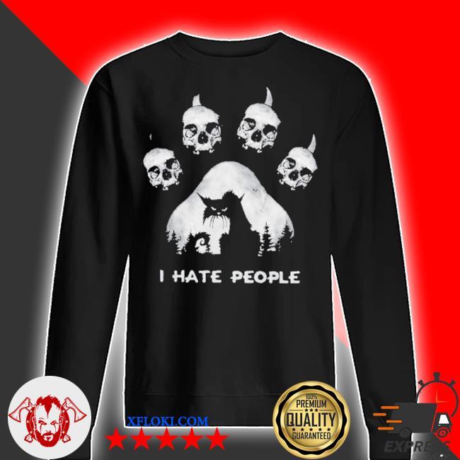Skull I hate people s sweater