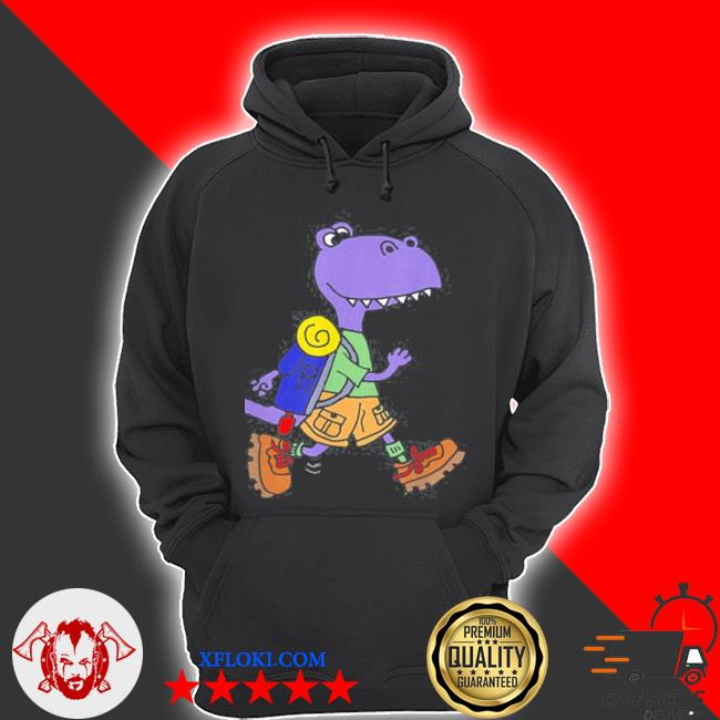 Smileteeshoba trex dinosaur hiking nature cartoon s hoodie