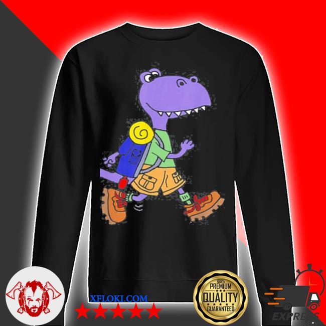 Smileteeshoba trex dinosaur hiking nature cartoon s sweater