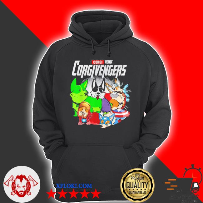 Super dogs corgi avengers assemble for kids and dogs lover new 2021 s hoodie