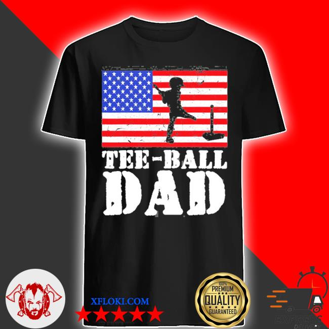 Usa American distressed flagball dad men for him shirt