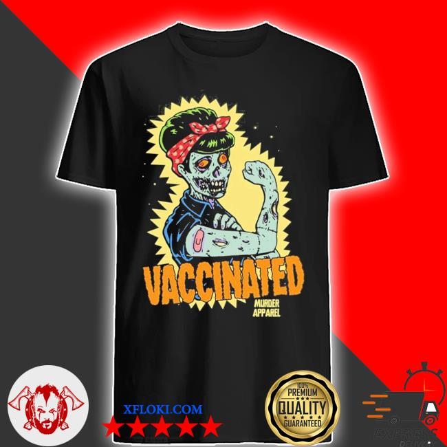 Vaccinated zombie rosie girl power feminist goth retro hot shirt