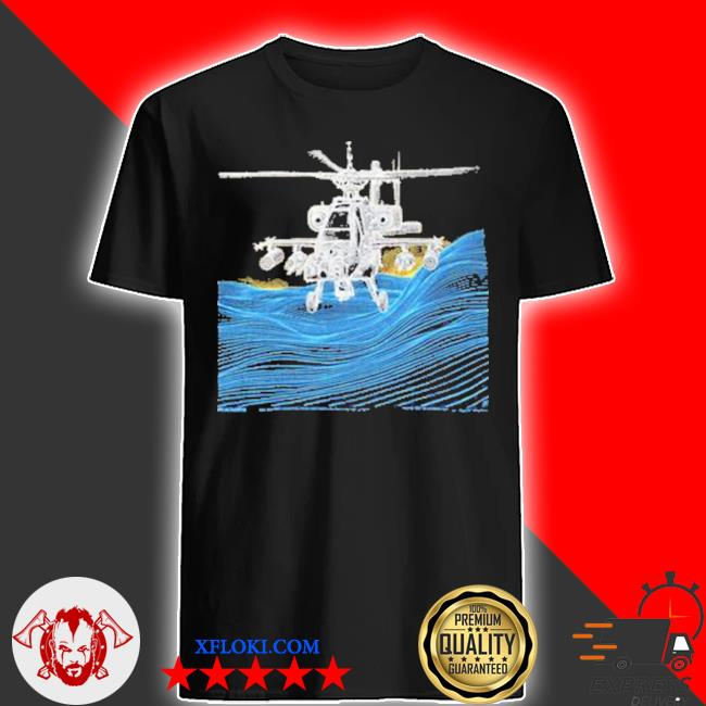 Vintage apache ah 64 helicopter shirt