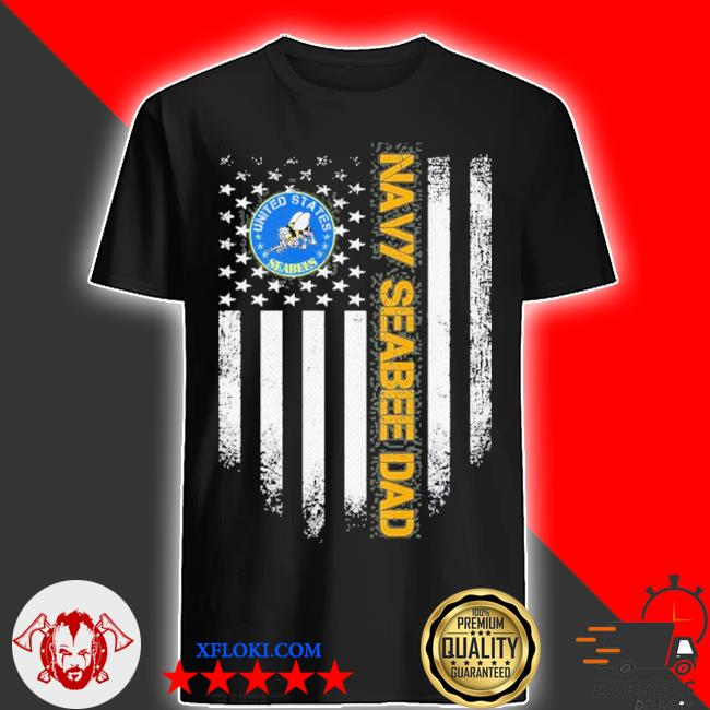 Vintage usa American flag proud us navy seabee veteran dad shirt
