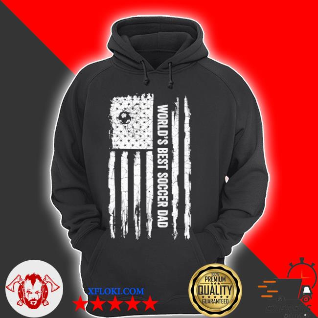Vintage usa American flag world's best soccer dad silhouette s hoodie