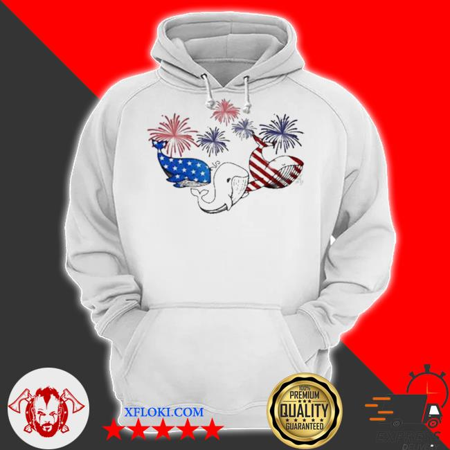 Whale flag colors whale lovers s hoodie