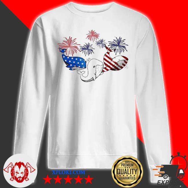 Whale flag colors whale lovers s sweatshirt