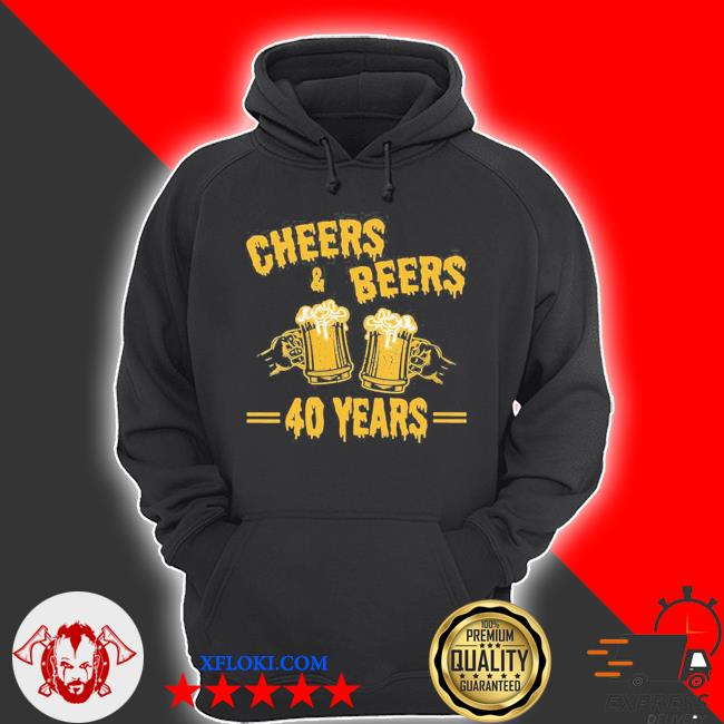 Womens cheers and beers to celebrate 40 years birthday job marriage new 2021 s hoodie
