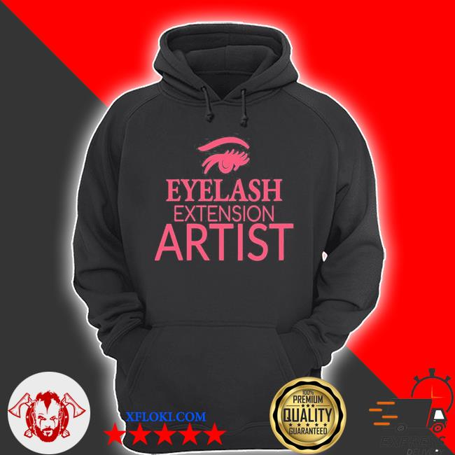 Womens eyelash extension artist s hoodie