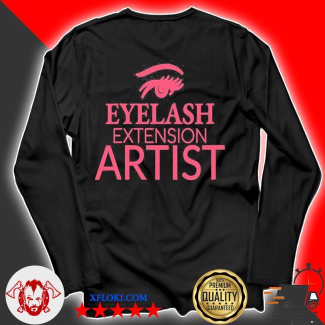 Womens eyelash extension artist s longsleeve