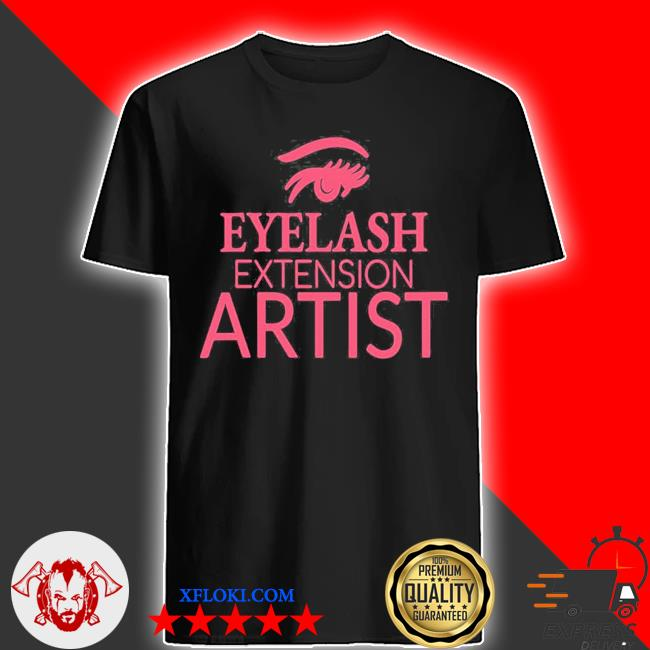 Womens eyelash extension artist shirt