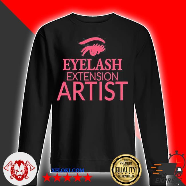 Womens eyelash extension artist s sweater