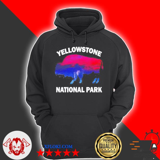 Yellowstone national park bison souvenir vintage s hoodie