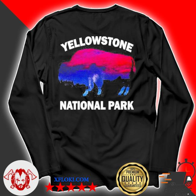 Yellowstone national park bison souvenir vintage s longsleeve