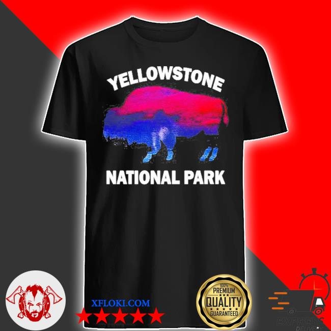 Yellowstone national park bison souvenir vintage shirt