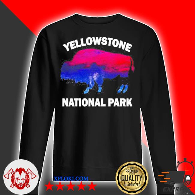 Yellowstone national park bison souvenir vintage s sweater