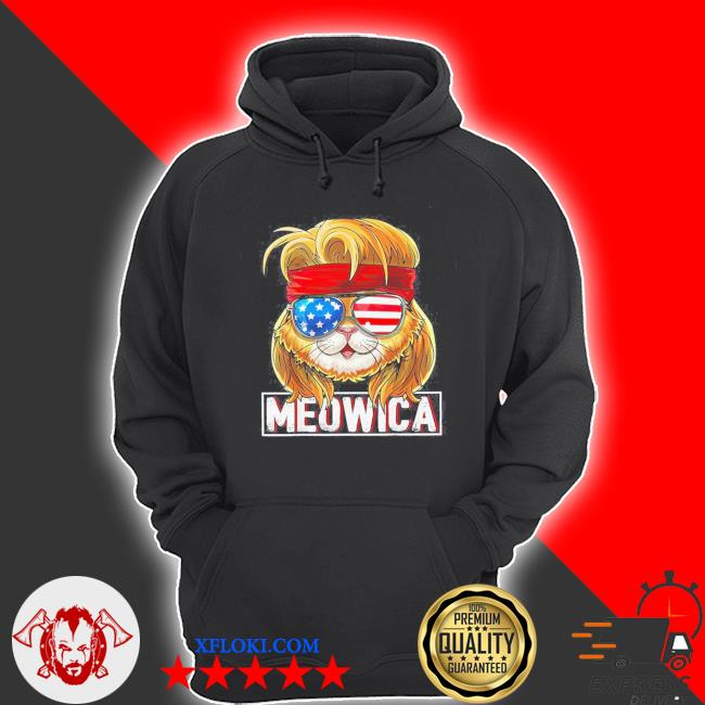Donald trump meowica 4th of july s hoodie
