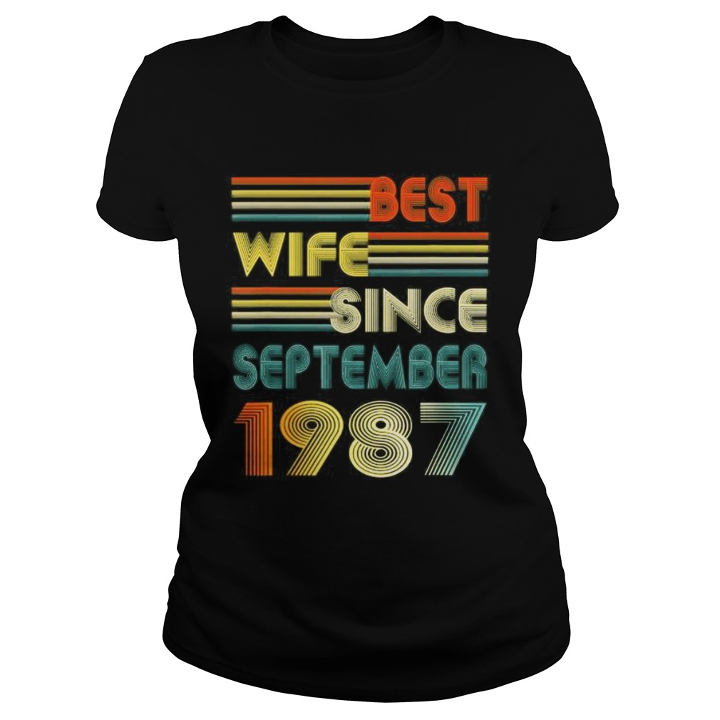 33rd Wedding Anniversary Gift Best Wife Since September 1987 Classic Ladies