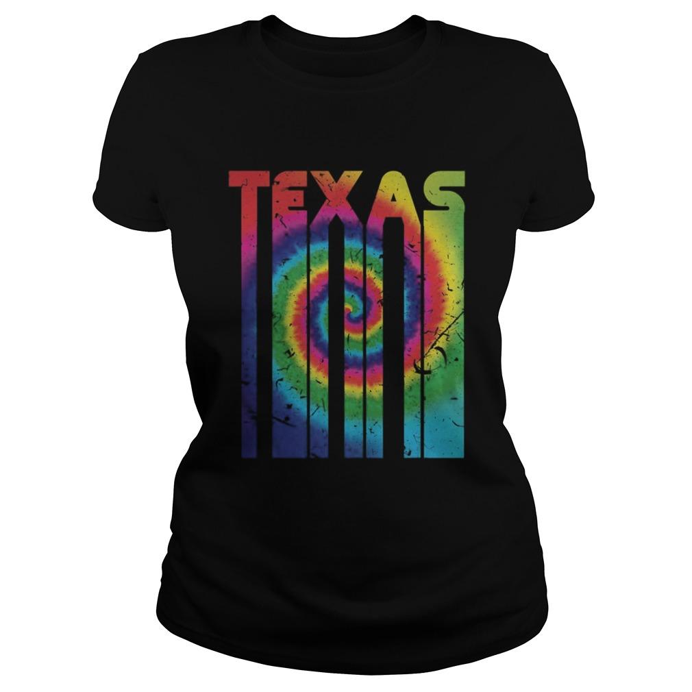 Retro Vintage Texas Colorful Tie Dye Texan Roots Classic Ladies