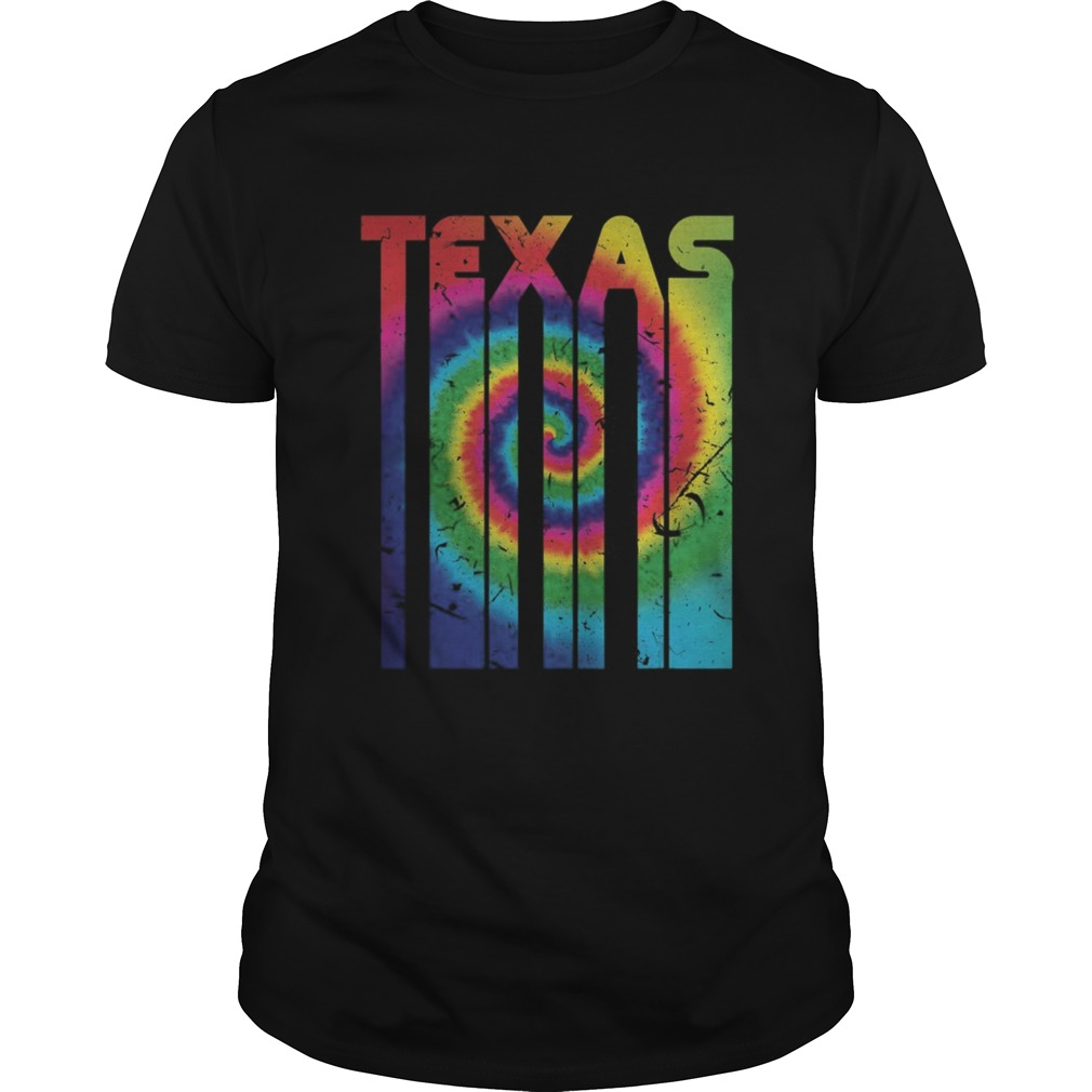 Retro Vintage Texas Colorful Tie Dye Texan Roots Unisex