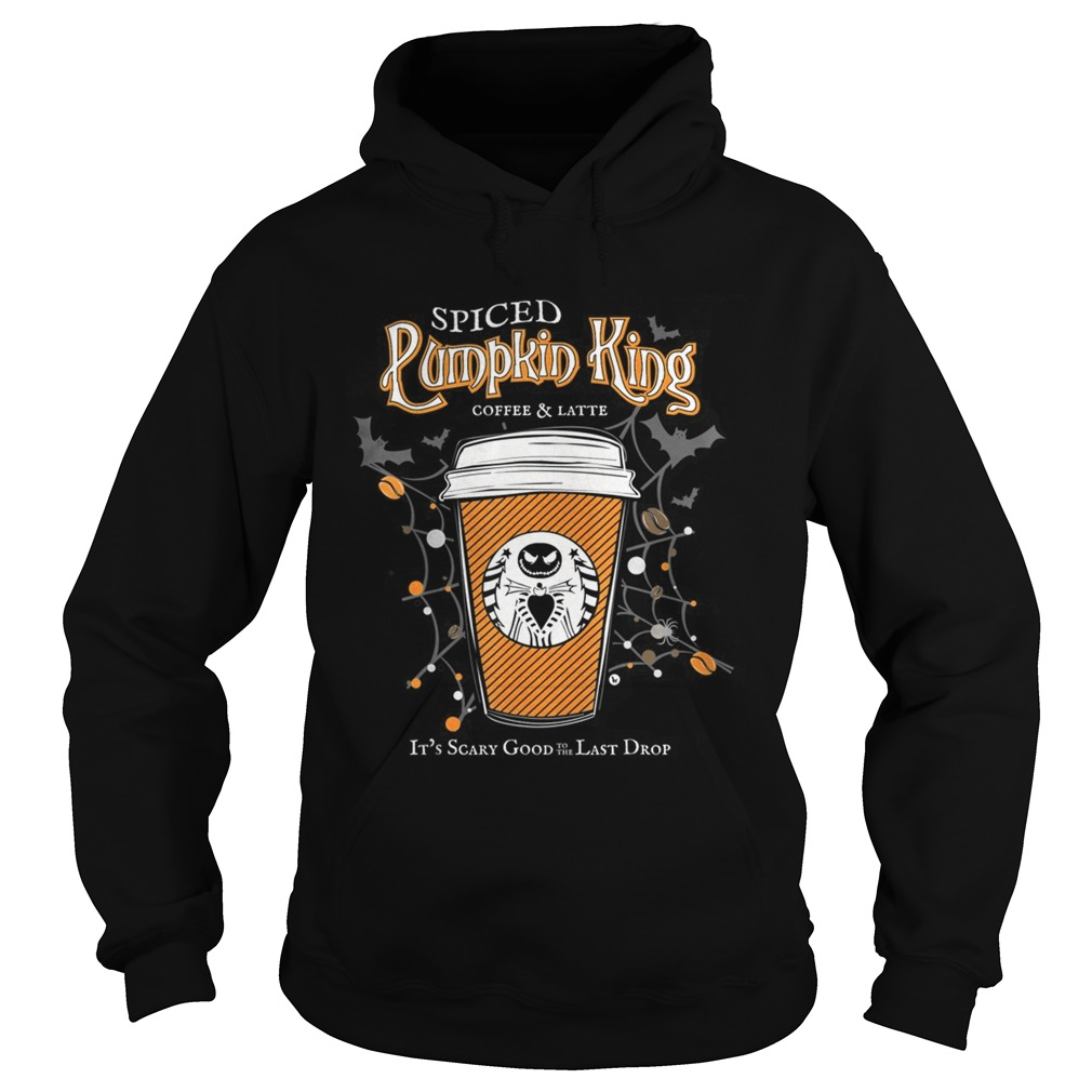 Spiced Pumpkin King Coffee Scary Good Fun Fall  Hoodie