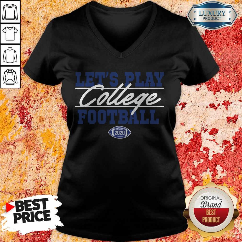 Top Let's Play College Football 2020 V-neck