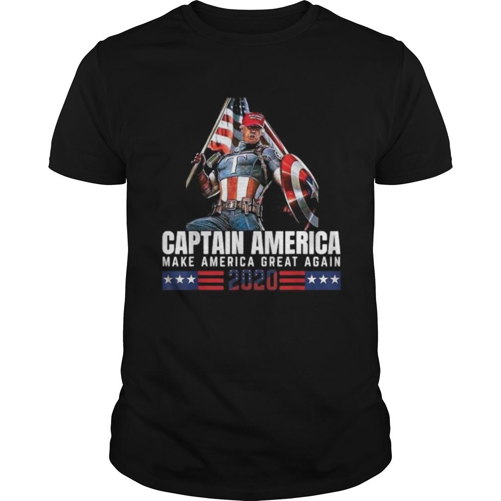 Trump Captain America Make America Great Again 2020 America Flag Unisex