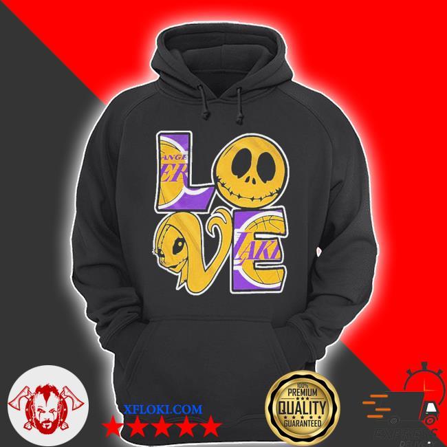 Angel laker jack skellington and sally love s hoodie