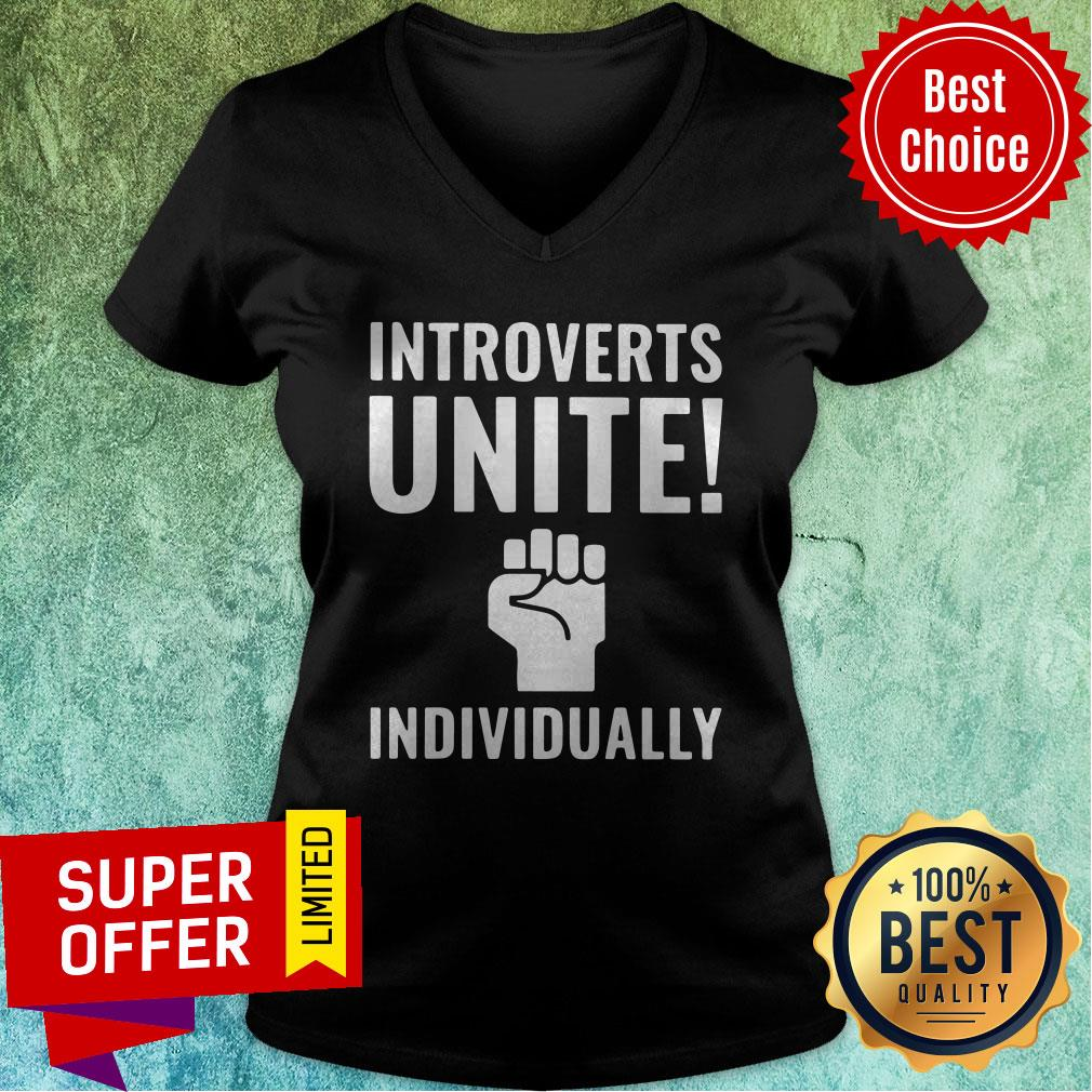 Awesome Introverts Unite Individually V-neck