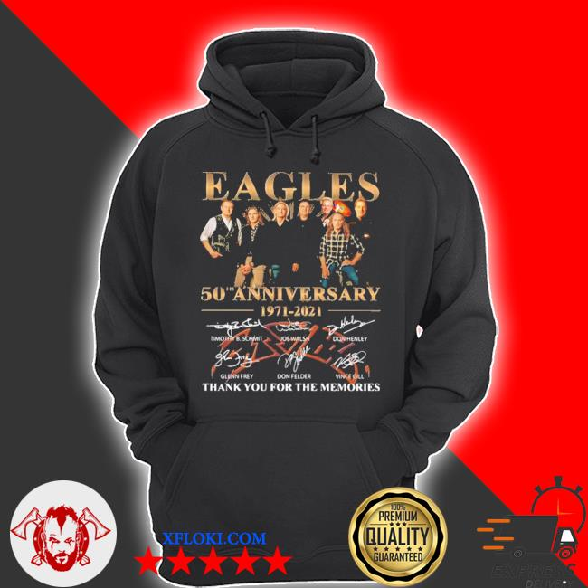 Eagles 50th anniversary 1971 2020 thank you for the memories signatures s hoodie