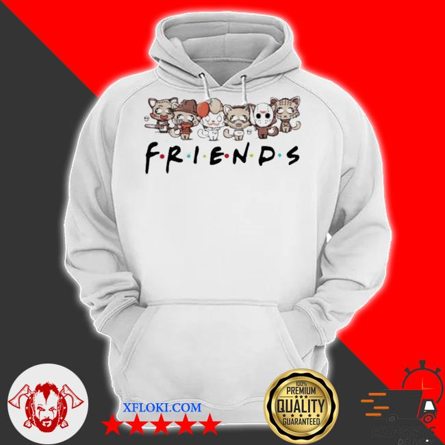 Horror characters cat friends s hoodie